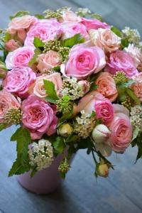 Bouquet de roses de jardin