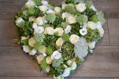 Coeur blanc et vert