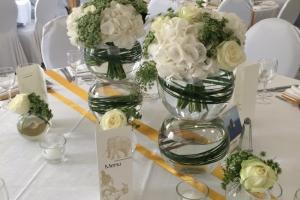 Centre de table Blanc Vert