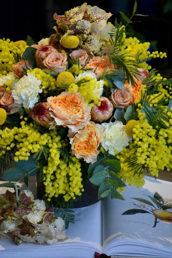 Bouquet rond Mimosa