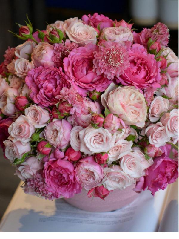 Bouquet de roses du jardin parfumées