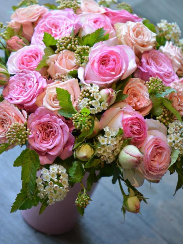 Bouquet coeurs tendres