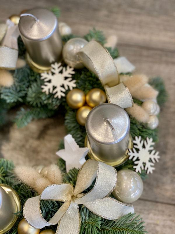Couronne de l'Avent Golden Christmas