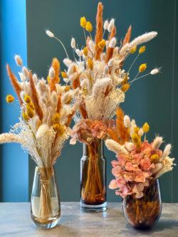 Composition de fleurs séchées pour la Saint-Valentin
